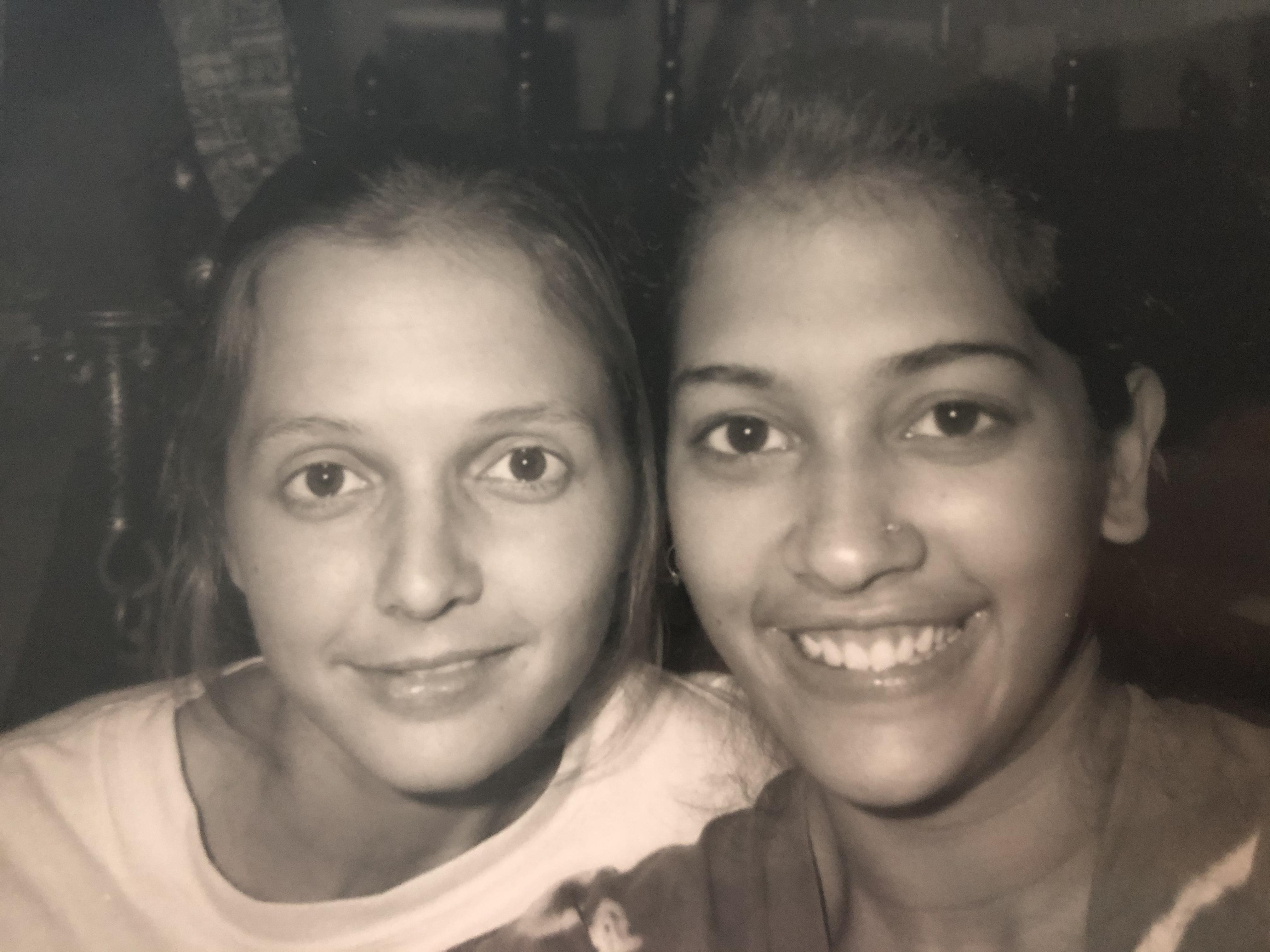 Sheelu + Me 1986 selfie